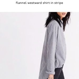 NWT Madewell flannel Westward shirt